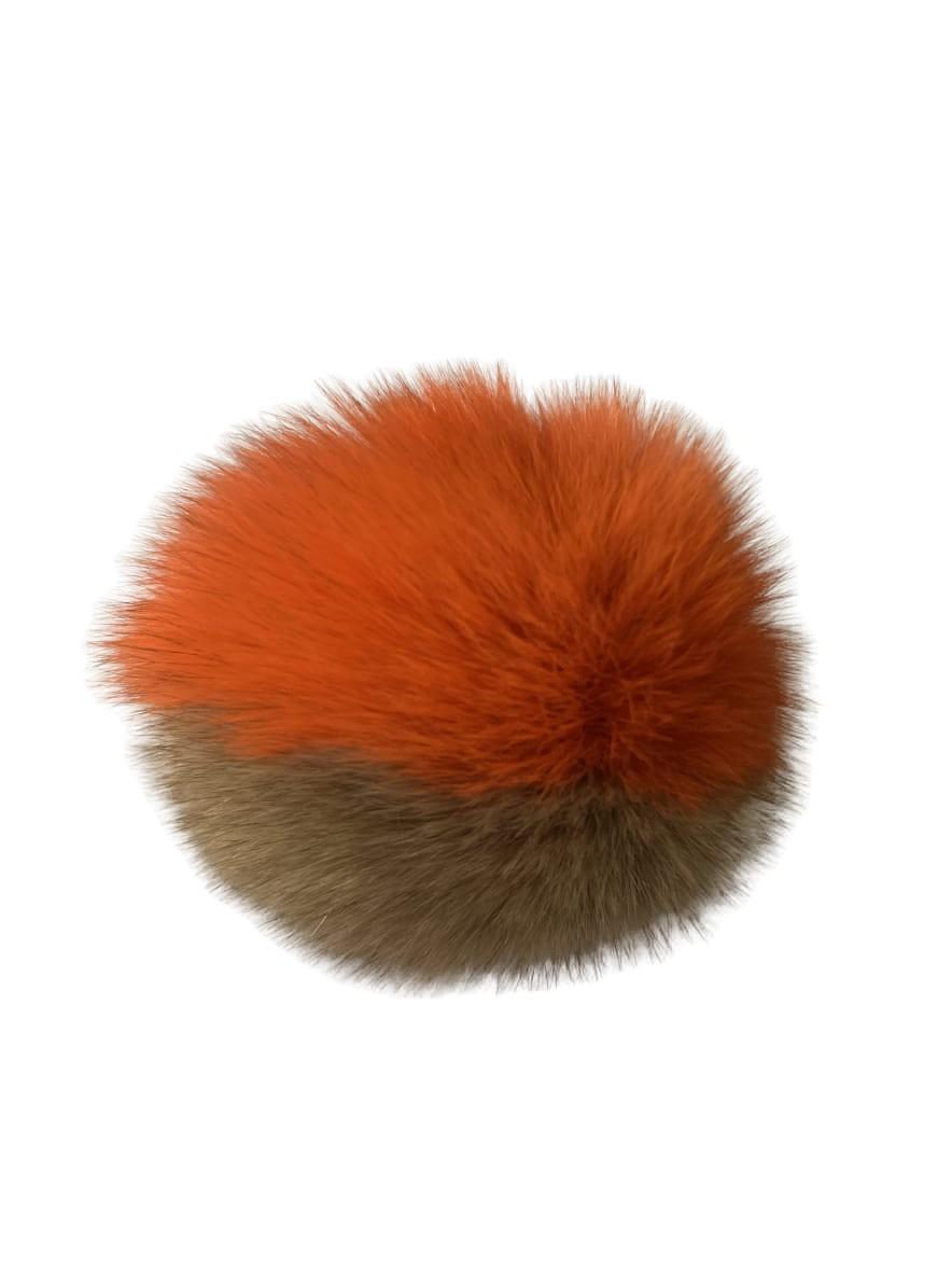 Real Fox Fur Pom Pom Fox Fur Pom pom Fur Ball, Keychain Pom Pom 1