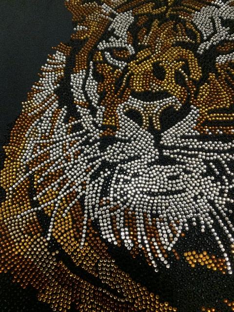 Tiger Bling Rhinestone Fashion T-shirt, Celebrity Inspired Shirts 3
