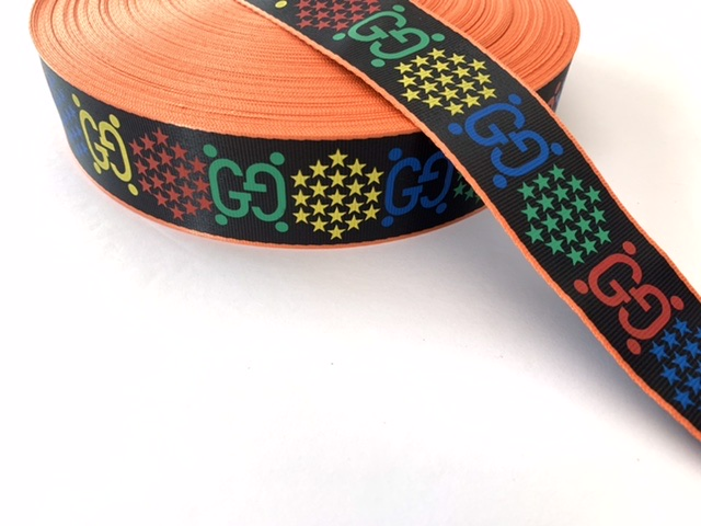 """Designer Inspired Gucci Psychedelic Industrial Ribbon 1.5"""" (1 Yard) 3"""