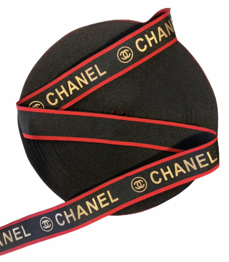 "Designer Inspired Chanel Ribbon 1"" (1 Yard) 1"