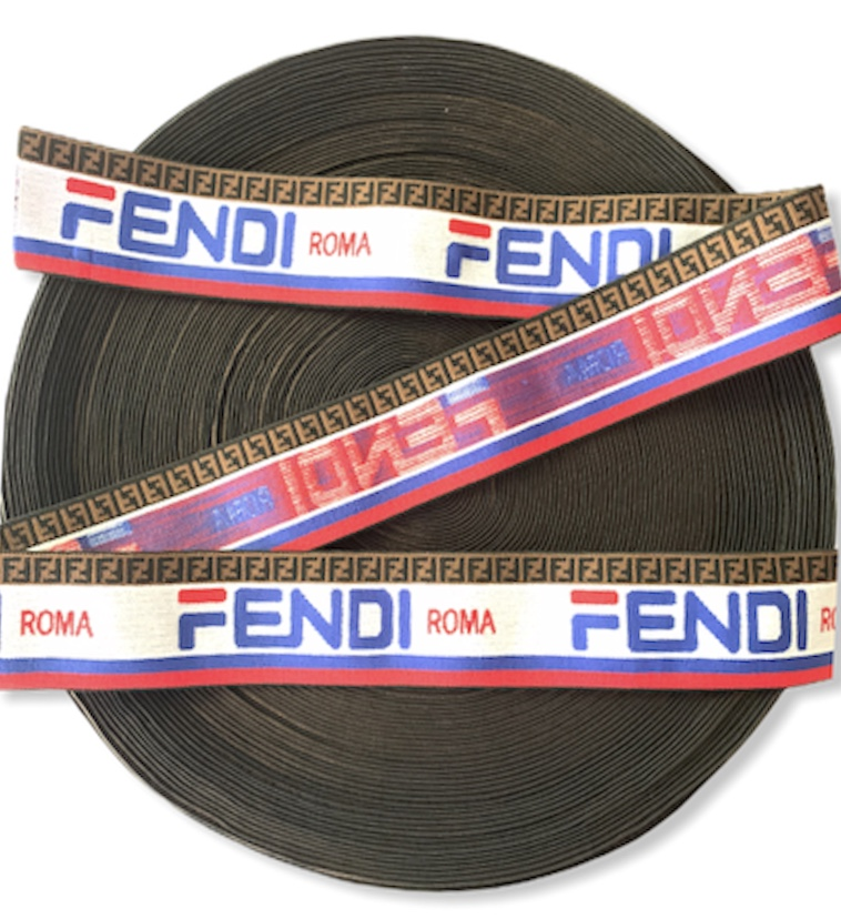 "Fendi Inspired Elastic Trim 2"" Designer Inspired 1"