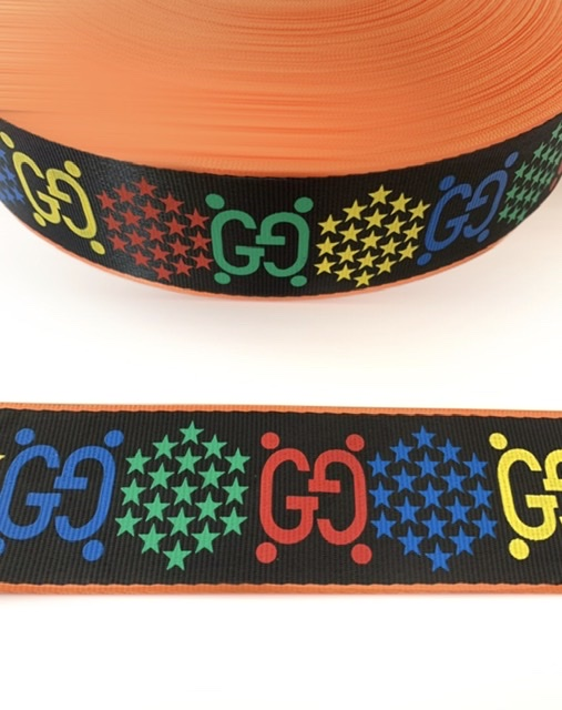 """Designer Inspired Gucci Psychedelic Industrial Ribbon 1.5"""" (1 Yard) 2"""