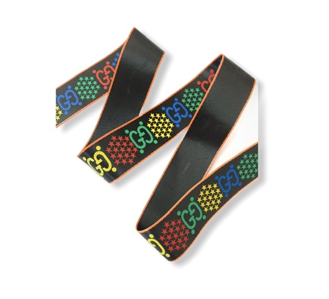 """Designer Inspired Gucci Psychedelic Industrial Ribbon 1.5"""" (1 Yard) 1"""