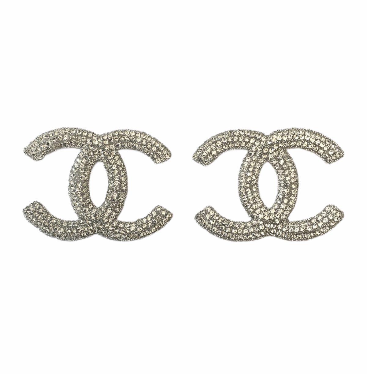 New Chanel Rhinestone Iron on Emblem Patch 2