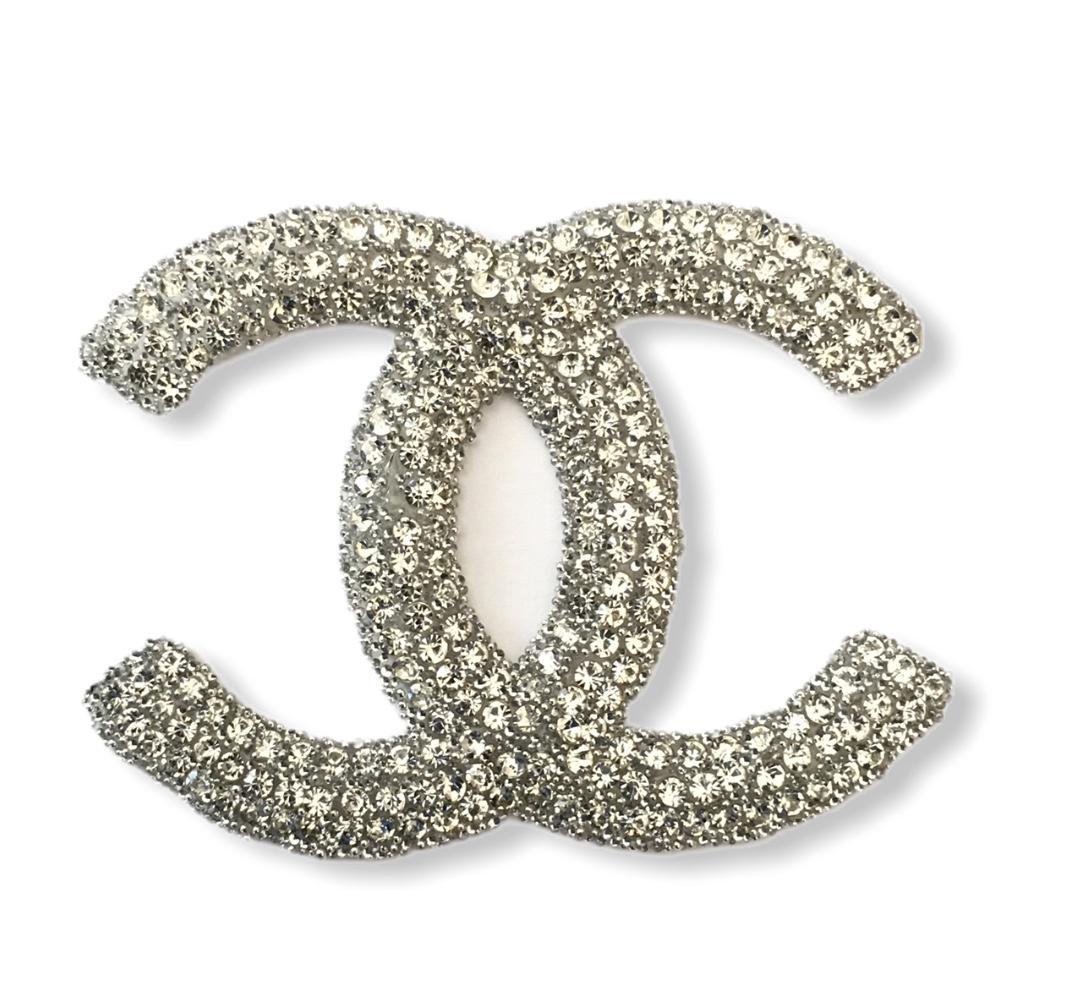 New Chanel Rhinestone Iron on Emblem Patch 1