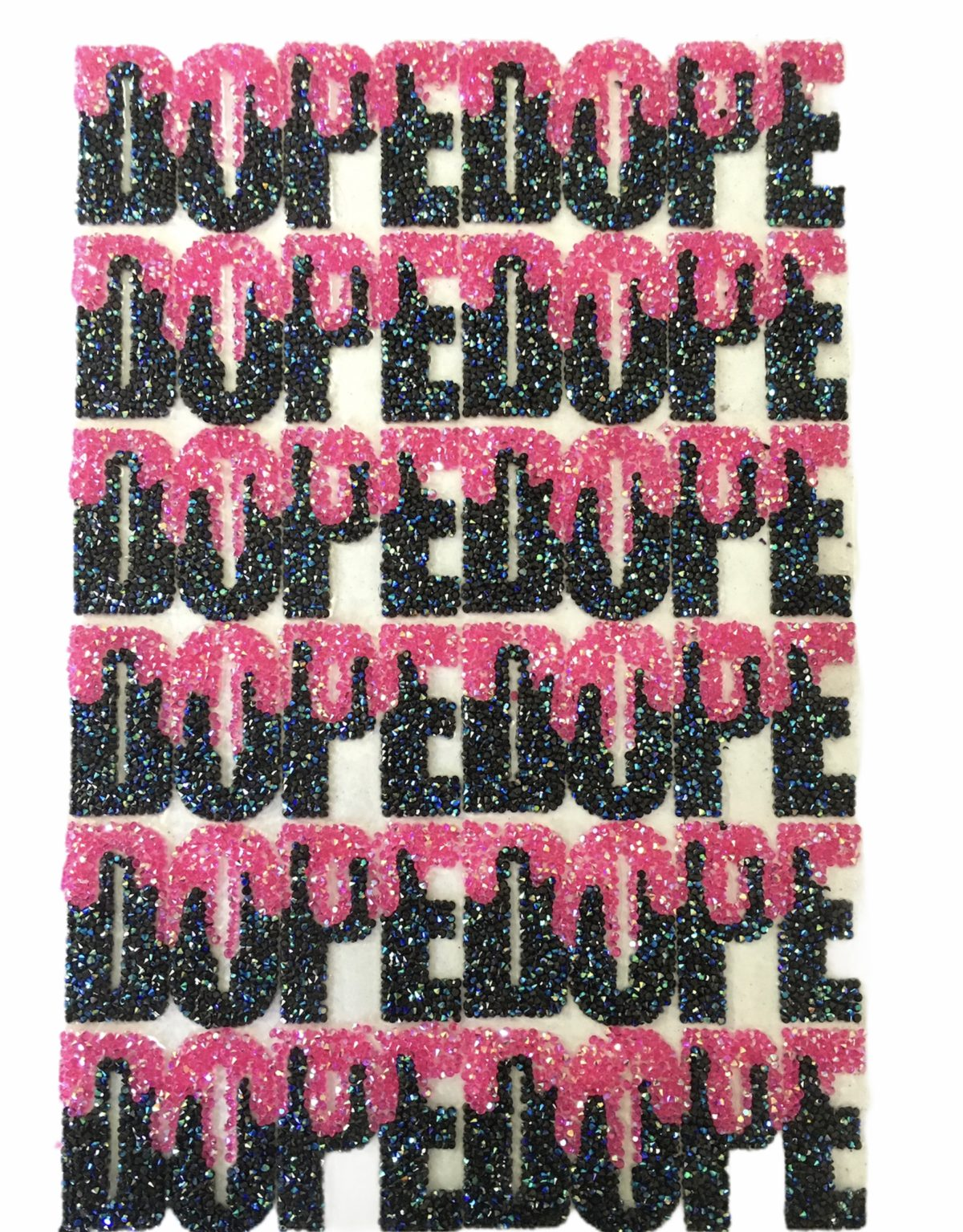Wholesale Custom Rhinestone DOPE patch, Iron On Patch, Hotfix (12 pcs) 3