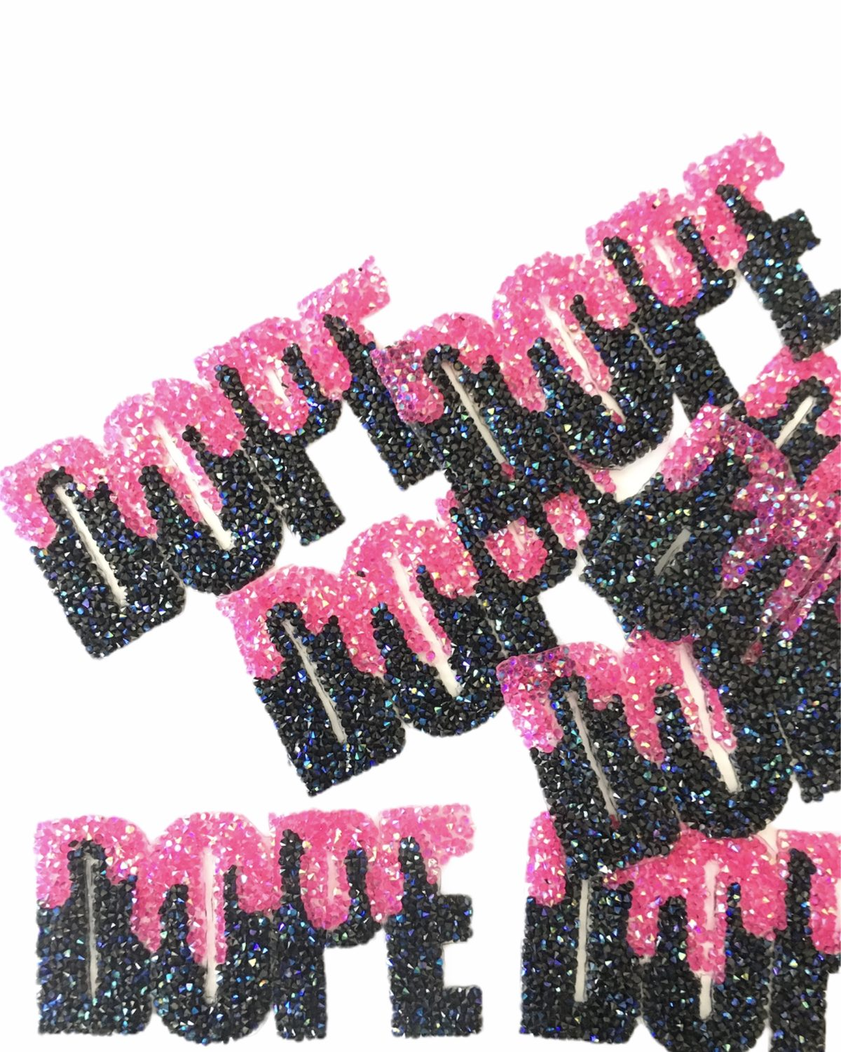 Wholesale Custom Rhinestone DOPE patch, Iron On Patch, Hotfix (12 pcs) 2