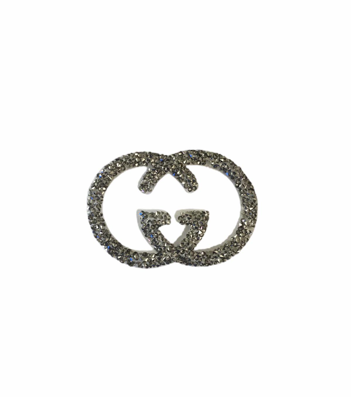 New GG Rhinestone Emblem, Gucci Patch Iron On patch 1