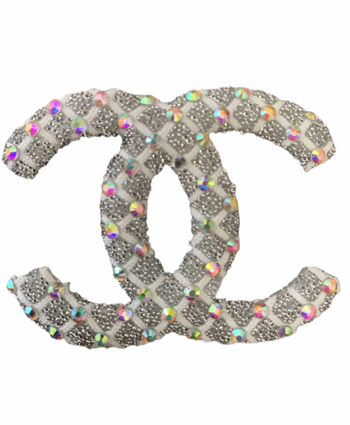 New Chanel Rhinestone Iron on Emblem Patch 1