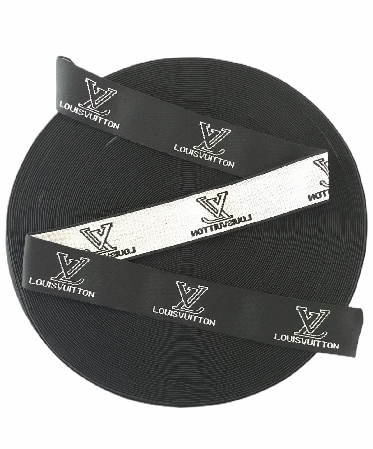 New LV Inspired Elastic Trim 4cm Designer Inspired 4cm 1