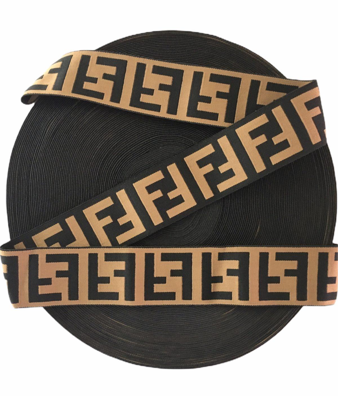 Beautiful Fendi Inspired Elastic Trim, Fendi Waistband Trim 1
