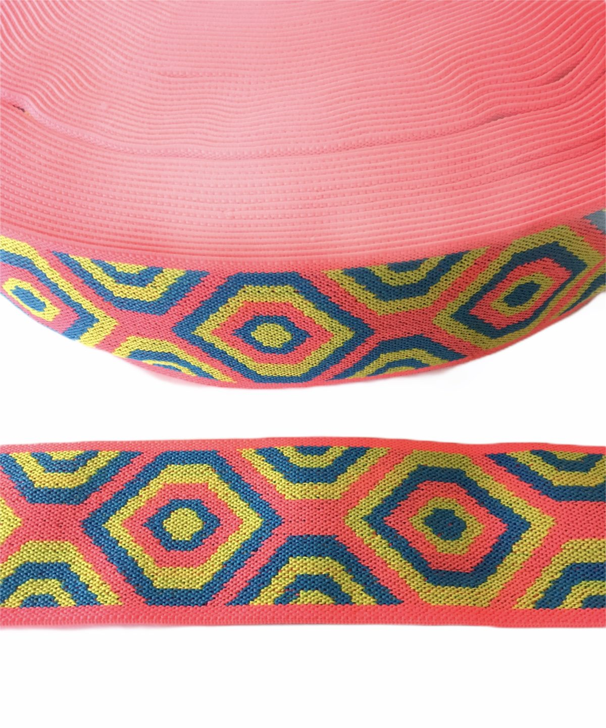 "Beautiful Aztec Inspired Colorful Elastic Trim 2"" 2"