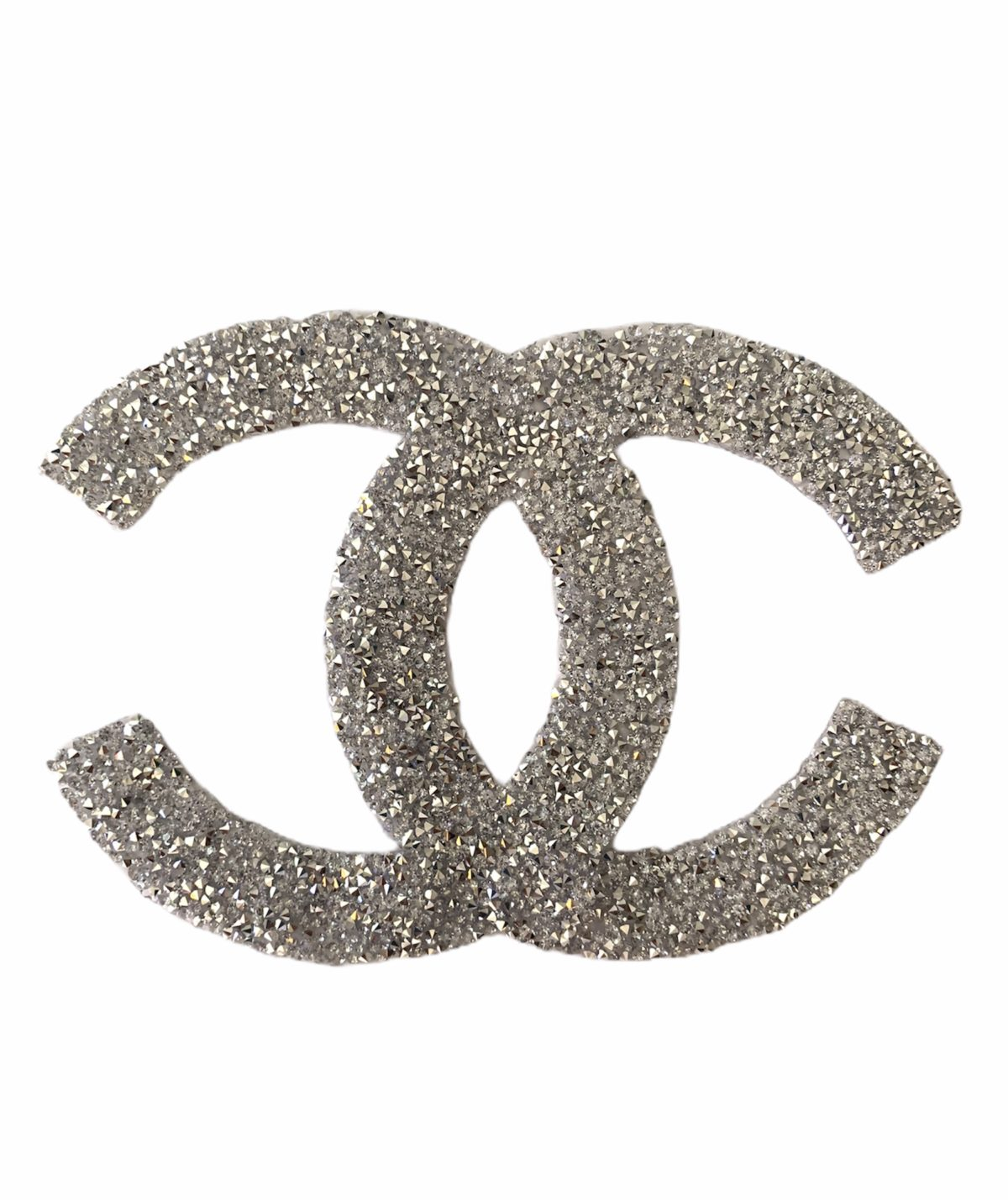 New CC Hotfix Patch, Iron On, Rhinestone Chanel, Large Design 1