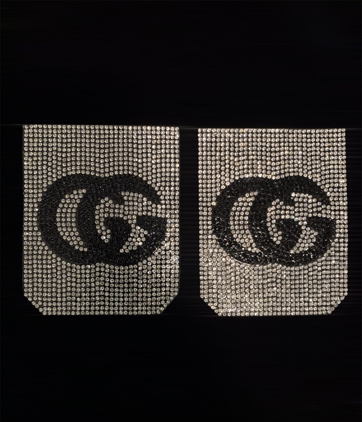 NEW Rhinestone GG Inspired Pocket Patch, Applique,  Iron On, Hot fix DIY clothing 1